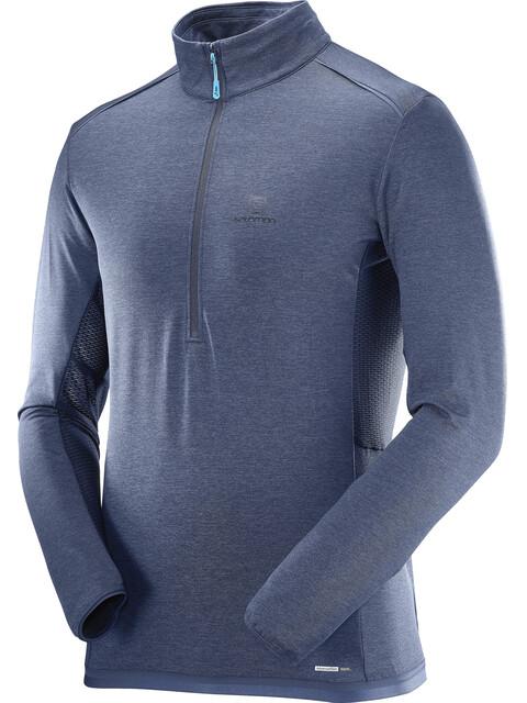 Salomon Discovery Flowtech HZ Midlayer Men Dress Blue